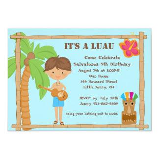Aloha Boy Luau Birthday Invitation
