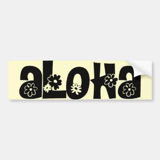 aloha bumper sticker (black)