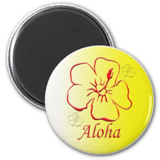 Aloha Button copy 2 Inch Round Magnet