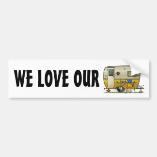 Aloha Camper Trailer Bumper Sticker