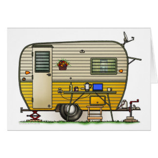 Aloha Camper Trailer Greeting Cards