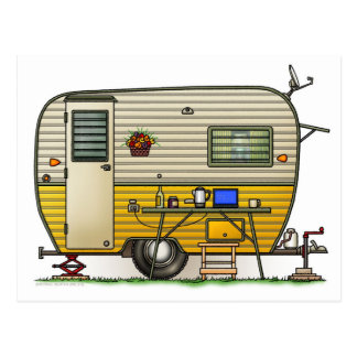Aloha Camper Trailer Postcard