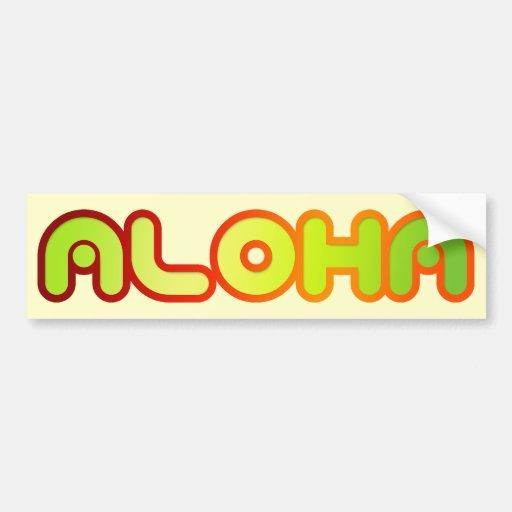 Aloha Car Bumper Sticker