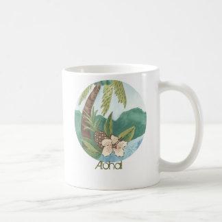 Aloha Coconut, Pineapple, Hibiscus Mug
