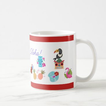 Beach Themed Aloha Coffee Mug