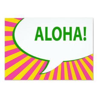 aloha! : comic speech bubble card