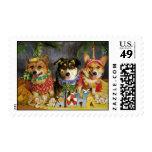 Aloha Corgis Postage Stamps