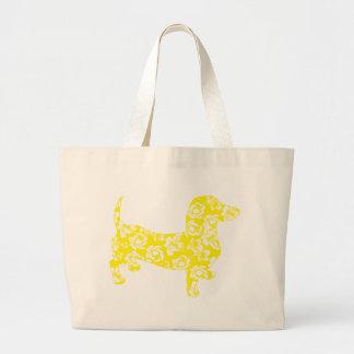 Aloha Dachshund Yellow Bags
