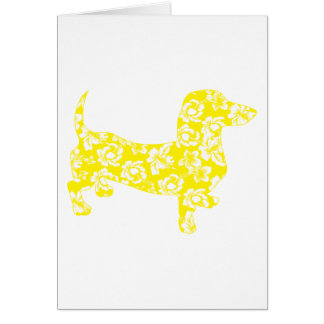 Aloha Dachshund Yellow Card