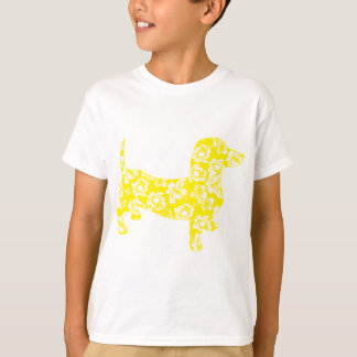 Aloha Dachshund Yellow T-Shirt