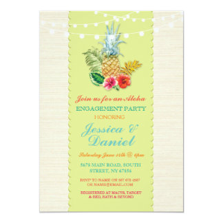Aloha Engagement Luau Tropical Lime Invite