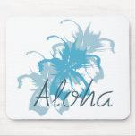 Aloha Floral Mouse Pad
