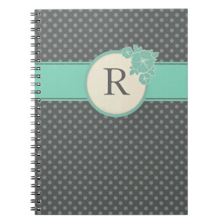 Aloha Floral Polka Dots Pattern Notebook