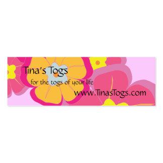 Aloha Floral Theme Care Instructions Mini Business Card