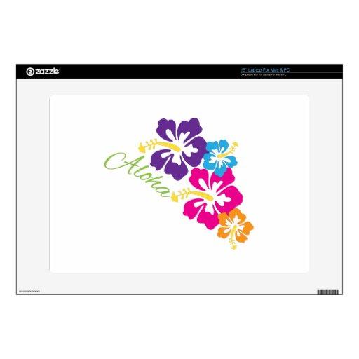 Aloha Flowers Laptop Skin