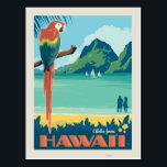 "Aloha fom Hawaii | Parrot Postcard<br><div class=""desc"">Anderson Design Group is an award-winning illustration and design firm in Nashville,  Tennessee. Founder Joel Anderson directs a team of talented artists to create original poster art that looks like classic vintage advertising prints from the 1920s to the 1960s.</div>"