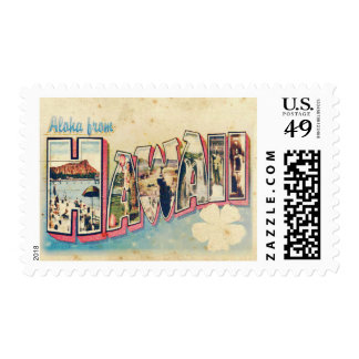 Aloha from Hawaii Postage Stamp Stamp
