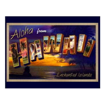 Beach Themed Aloha from Hawaii Postcard