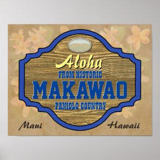 Aloha from Makawao, Hawaii Poster