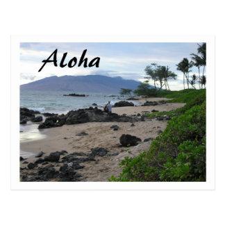 """ALOHA FROM MAUI"" BEACH SCENE POSTCARD"