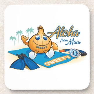 aloha from sweetyonion beverage coaster
