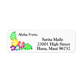 Aloha From Tropical Hibiscus Label