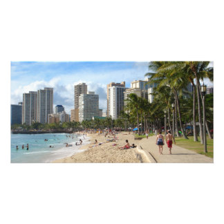 Aloha! from Waikiki Beach Personalized Photo Card