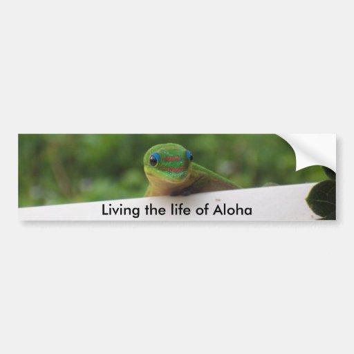 Aloha Gecko stickers Bumper Stickers