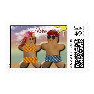 Aloha - Gingerbread cookies baking Postage Stamps