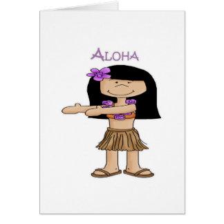 Aloha Girl Card