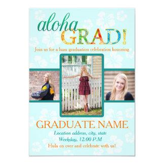 Aloha GRAD Graduation party invitation