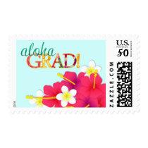 Aloha Grad Hawaiian Luau Postage