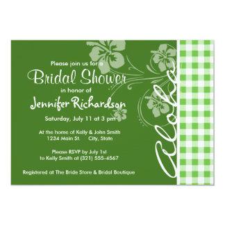 Aloha; Green Checkered; Gingham Card