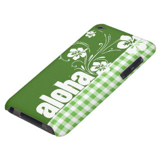 Aloha; Green Checkered; Gingham iPod Case-Mate Case