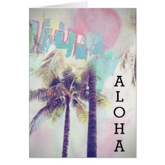 Aloha Greetings Greeting Card
