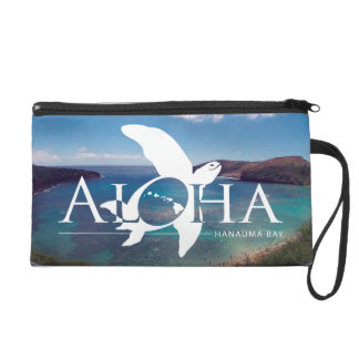Aloha Hanauma Bay Hawaii - Green Sea Turtle Wristlet