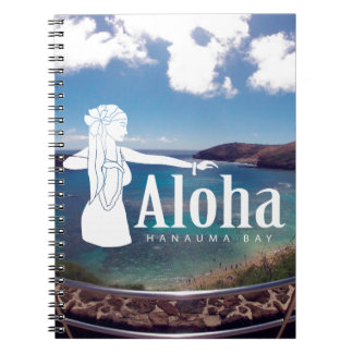Aloha Hanauma Bay Hawaii Hula Dance Notebook