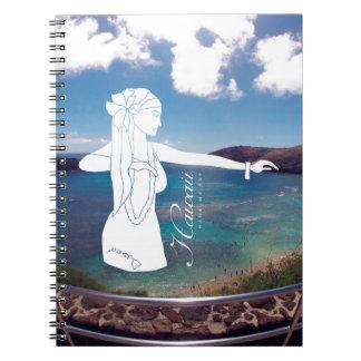 Aloha Hanauma Bay Hawaii Hula Dance Spiral Notebook