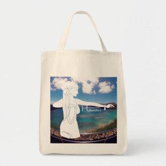 Aloha Hanauma Bay Hawaii Hula Tote Bag