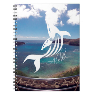 Aloha Hanauma Bay Hawaii Islands and Whale Spiral Notebook