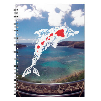 Aloha Hanauma Bay Hawaii Islands Dolphin Notebook