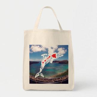 Aloha Hanauma Bay Hawaii Islands Dolphin Tote Bag