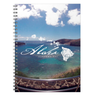 Aloha Hanauma Bay Hawaii Islands Spiral Notebook