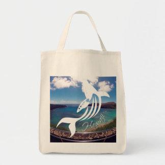 Aloha Hanauma Bay Hawaii Islands Whale Tote Bag