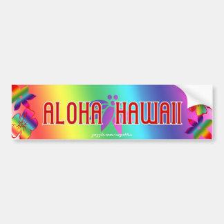 Aloha Hawaii Car Bumper Sticker