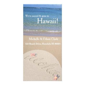 Aloha Hawaii Change of Address Custom Photo Card