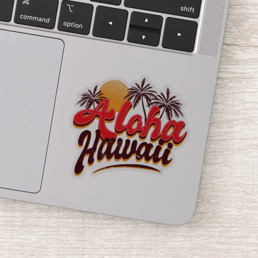 Aloha Hawaii Custom-Cut Vinyl Stickers