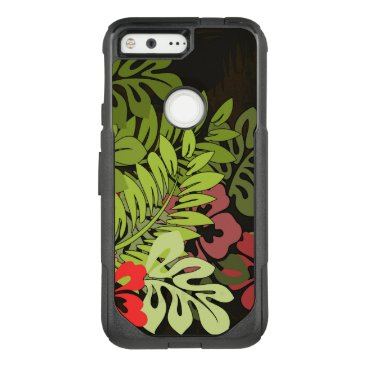 Beach Themed Aloha Hawaii Floral Phone Vintage Tropical OtterBox Commuter Google Pixel Case