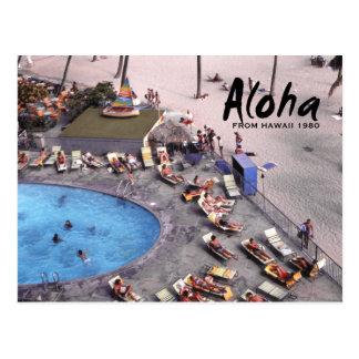 Aloha Hawaii Hawaiian Sunbathers Postcard