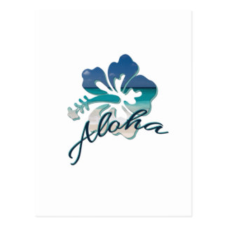 Aloha Hawaii Hibiscus Flower Postcard